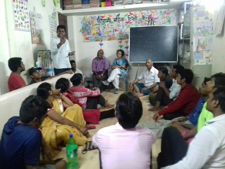 Review meeting in Sanjay Colony