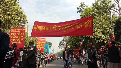 march from mandi house to parliamen