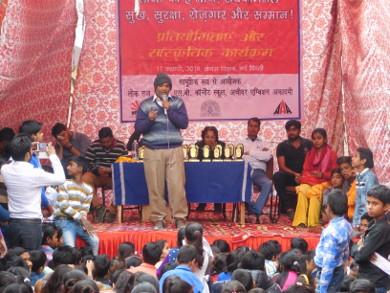 Birju addressing the participants