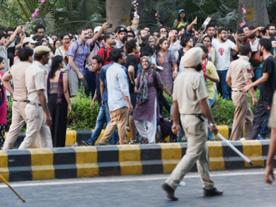 JNU protest march