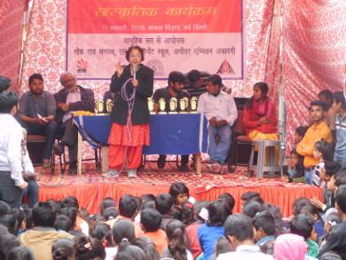 Suchi addressing the participants