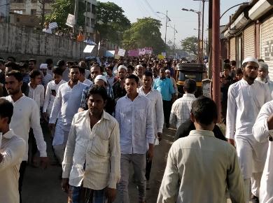 Bhiwandi_demo_in streets