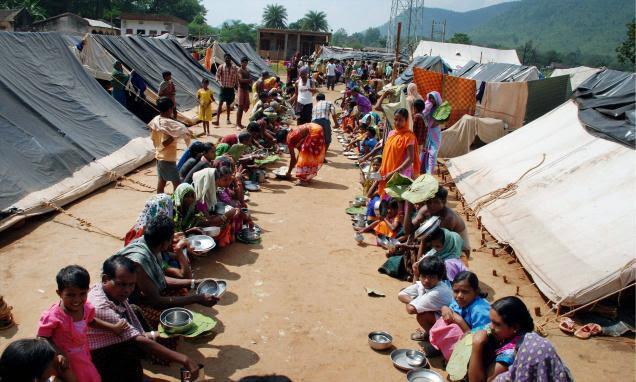 Kandhmal refugee camp