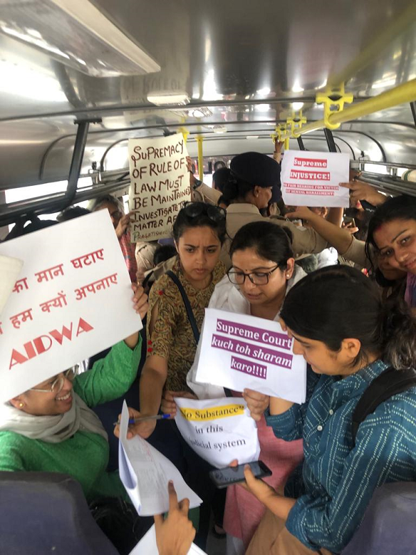 Women being taken away to police station 7th May 2019